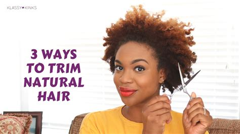 trimming short hair yourself 3 ways to trim natural hair by yourself klassy kinks
