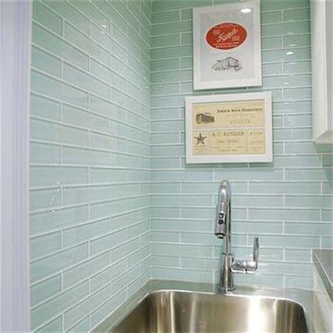 Delta Grail Kitchen Faucet Sea Blue Glass Tile Backsplash Design Ideas
