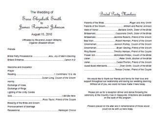 Wedding Mass Booklet Template