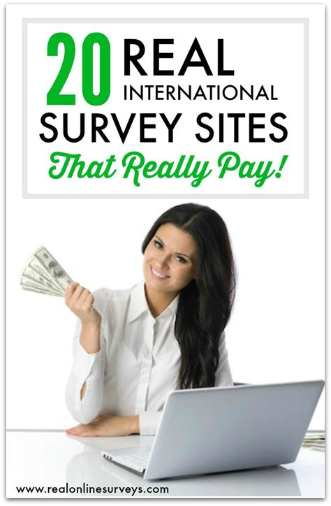 Surveys For Real Money - top 20 international paid surveys for making money online real online