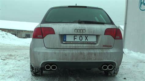 Audi A4 Sportauspuff by Audi A4 B7 3 0 Tdi 155kw Fox Sportauspuff Exhaust By