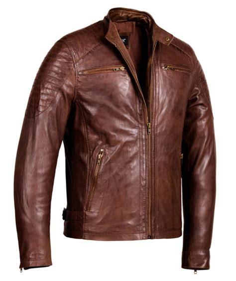 Genuine Leather Jacket cafe racer brown leather jacket mens genuine leather jackets