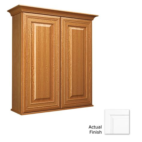 lowes bathroom wall cabinets shop kraftmaid summerfield wall cabinet common 27 in