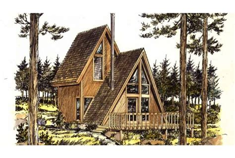 a frame cabin plans eplans a frame house plan one bedroom a frame 535
