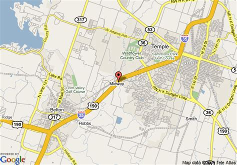 map temple texas map of inn temple temple