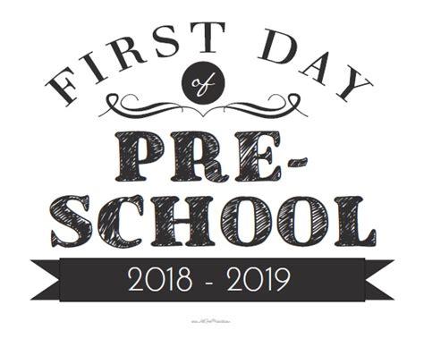Day Of Nursery School Sign Printable