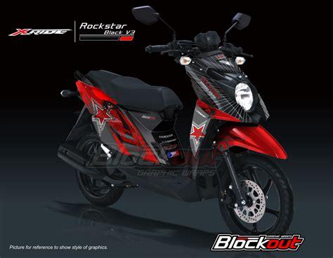 A X Hitam stiker motor x ride stiker motor striping motor x ride