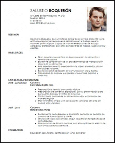 Plantilla De Curriculum Para Cocinero Modelo Curriculum Vitae Cocinero Ejemplo Cv Livecareer