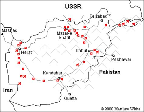 map of soviet afghan war map of the war in afghanistan