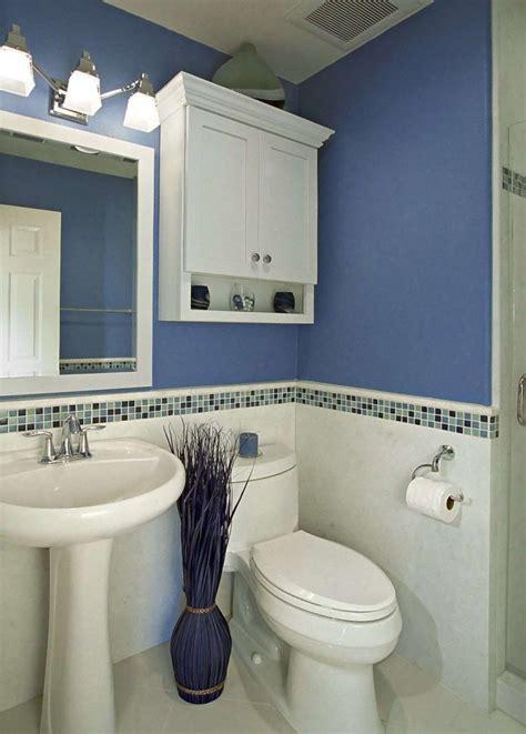 bathroom mosaic backsplash tile idea feat stylish blue