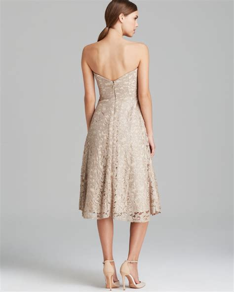 Nicoles Dress by Miller Dress Strapless Lace Tealength In Lyst