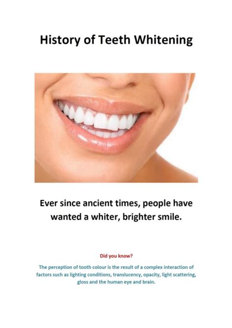 history  teeth whitening interesting facts