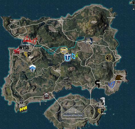 map   prefered loot spots    pgi teams
