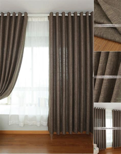 Casual Solid Color Linen Curtains Sale Online