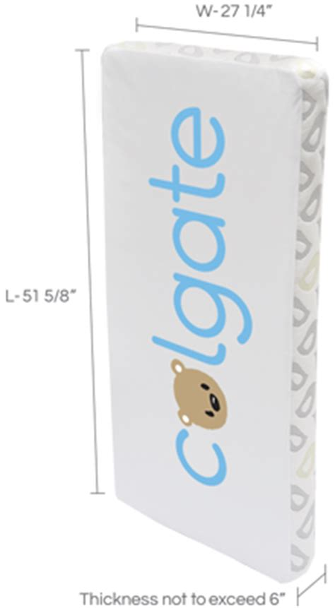 standard size crib mattress dimensions what is the standard crib mattress size colgate mattress
