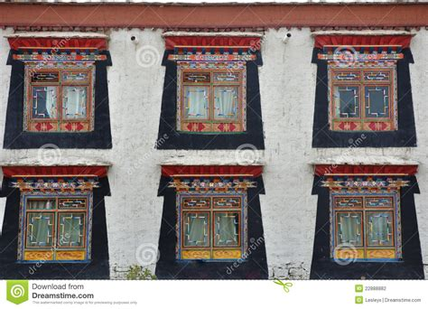 tibetan style tibetan style windows stock photography image 22888882