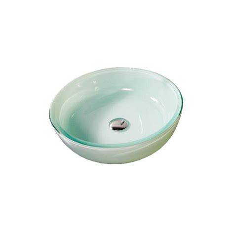 cut crystal vessel sink decolav translucence vessel sink in frosted glass crystal