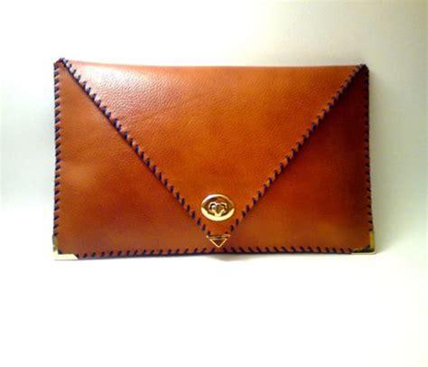 Handmade Leather Clutch - handmade leather clutch clothes gems bits
