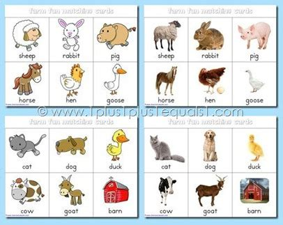 printable real animal flash cards farm fun printables free 1 1 1 1