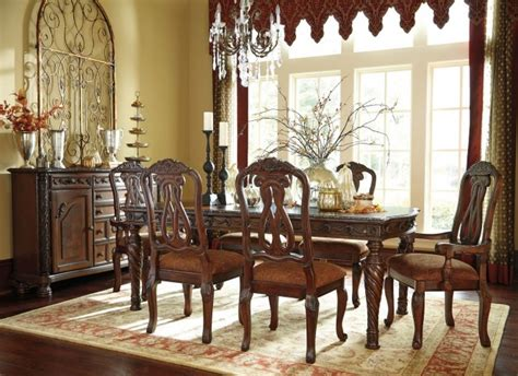 north shore 11pc extending dining room table set old world north shore rectangular extendable dining room set from
