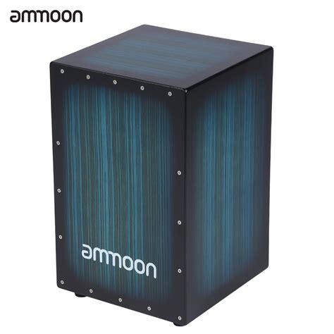 Akustik Drum Box Cajon ammoon wooden box drum cajon drum wood persussion instrument with stings rubber 30