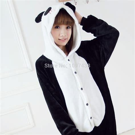 anzug pyjama panda animal footed pajamas onesie autumn winter