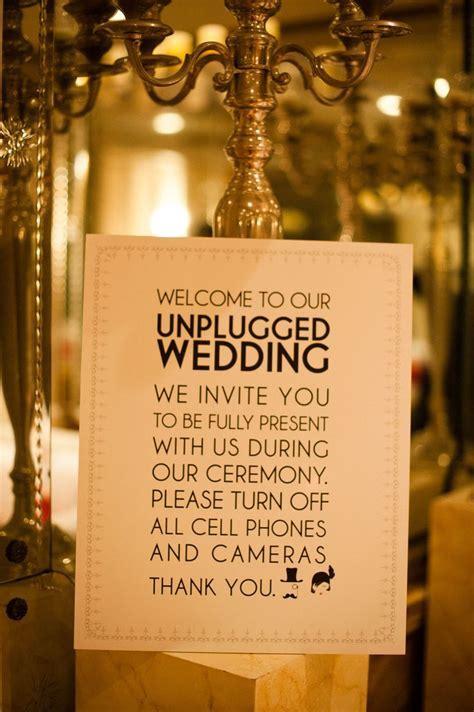 17 Best ideas about Unplugged Wedding on Pinterest
