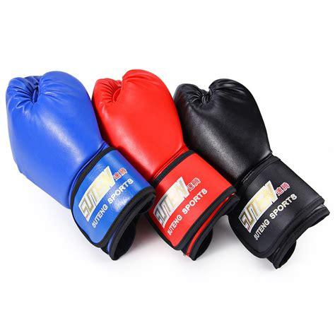 Thai Boxing Gloves 1pair suten 1 pair pu soft foam rubber boxing gloves kickboxing mma fighting sandbag for muay