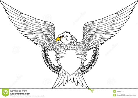 eagle with shield for you design royalty free stock images