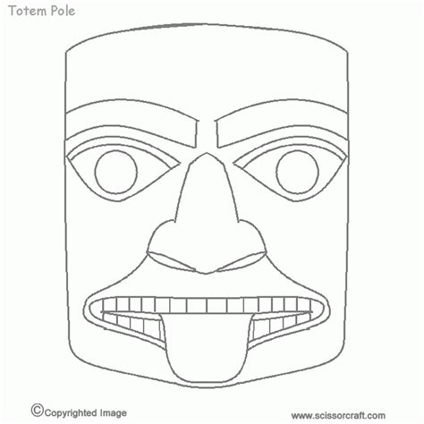 Totem Pole Faces Coloring Pages coloring pages of totem poles coloring home