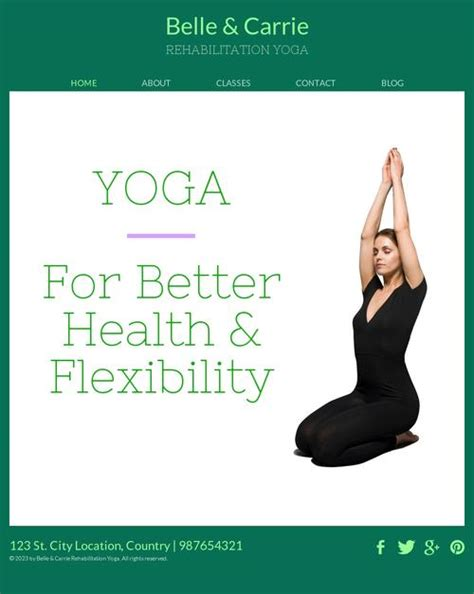 templates for yoga ready rehabilitation yoga website template free