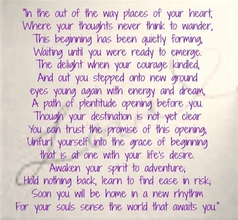 Zen Wedding Blessing by For A New Beginning By Odonohue How For A