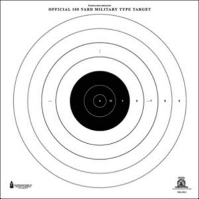 printable high power rifle targets law enforcement targets action target official nra 100