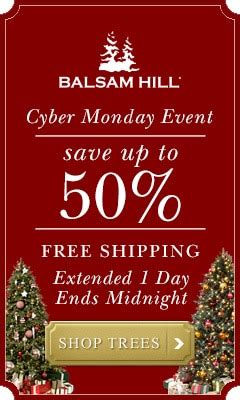 need a new tree save up to 50 with free shipping today only at balsam hill