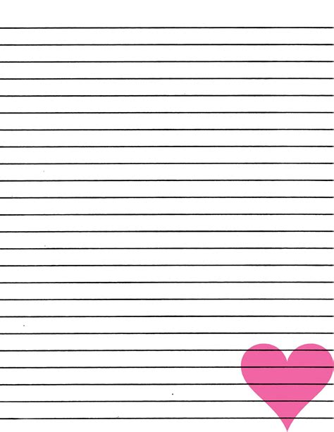 Print Paper - lined paper you can print in high quality loving printable