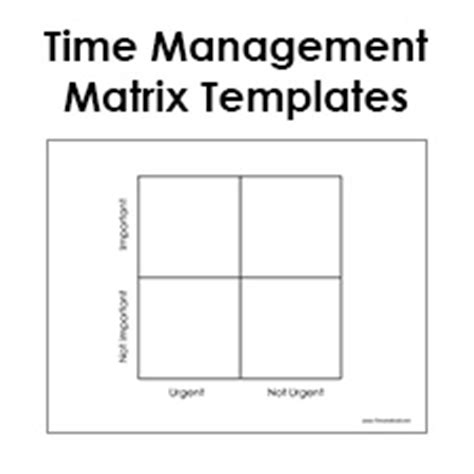 Time Matrix Template blank eisenhower matrix template pdf time management matrix