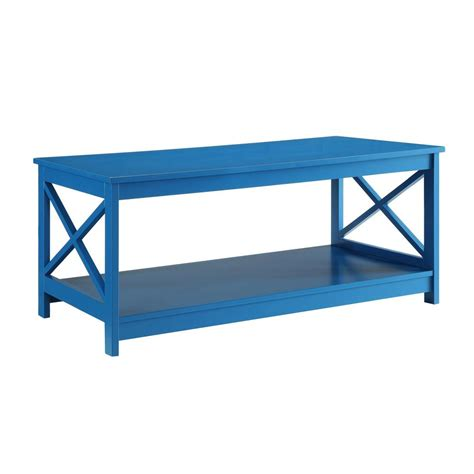 Convenience Concepts Coffee Table Convenience Concepts Oxford Blue Coffee Table 203082be The Home Depot