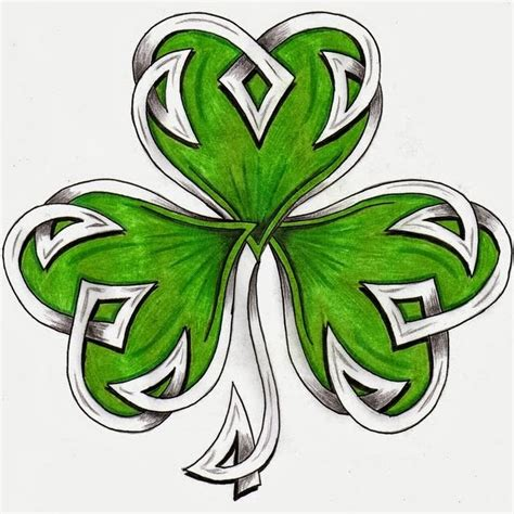 four leaf clover tattoo design pretty celtic shamrock leaf stencil by hdevers