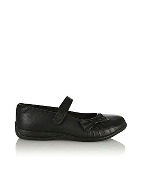 asda school shoes school leather bow detail shoes school george at