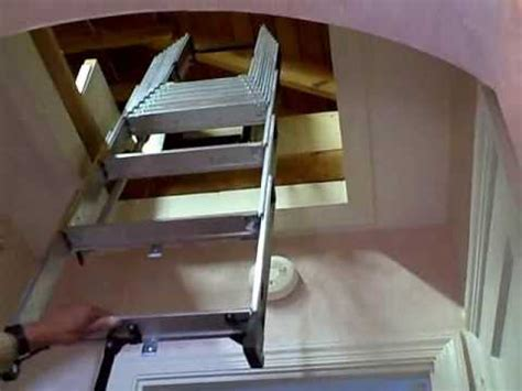 compact attic installation with existing push up attic