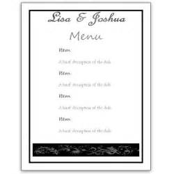 simple menu templates menu template word