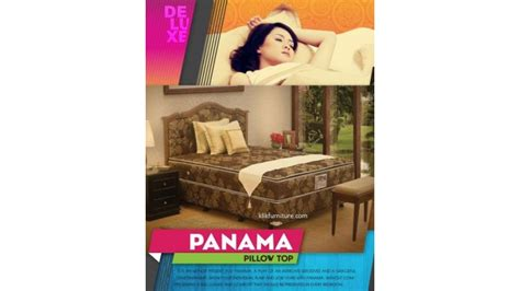 Bed Bigland Deluxe central springbed deluxe pillow top sandaran panama