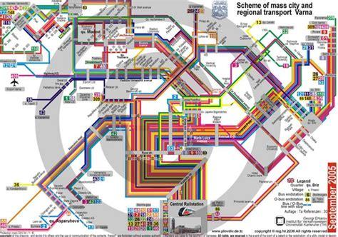 transport map varna bulgaria transportation map varna bulgaria