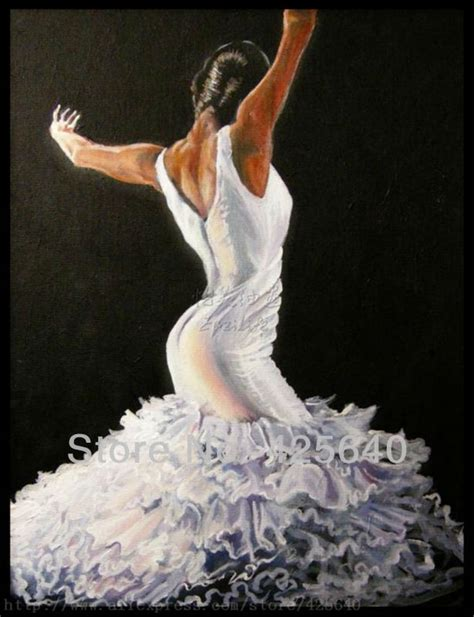 Spanish Home Decor Store by Spanish Flamenco Dancer Painting Latina Woman Oil Painting