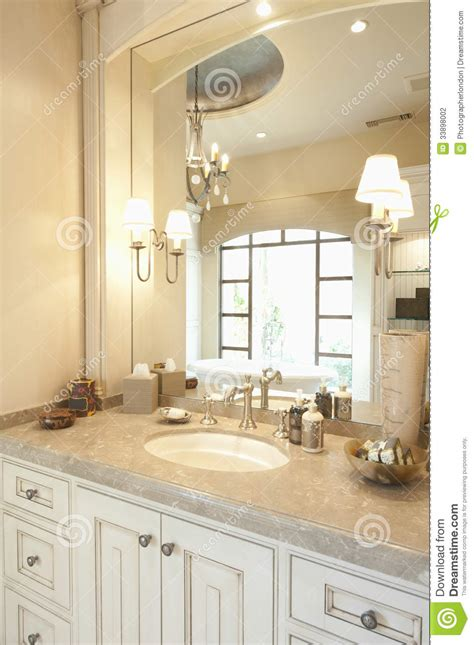 cream bathroom mirror modern bathroom stock photo image of showcase cupboard