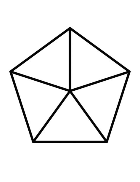fractions of 5 sided polygon clipart etc