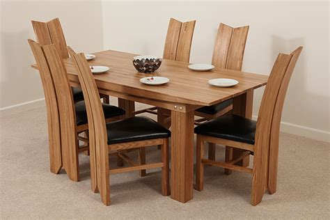 solid oak dining table and 6 chairs solid oak dining set 6ft table with 6