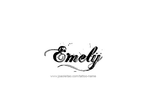 tattoo font emily emely name tattoo designs