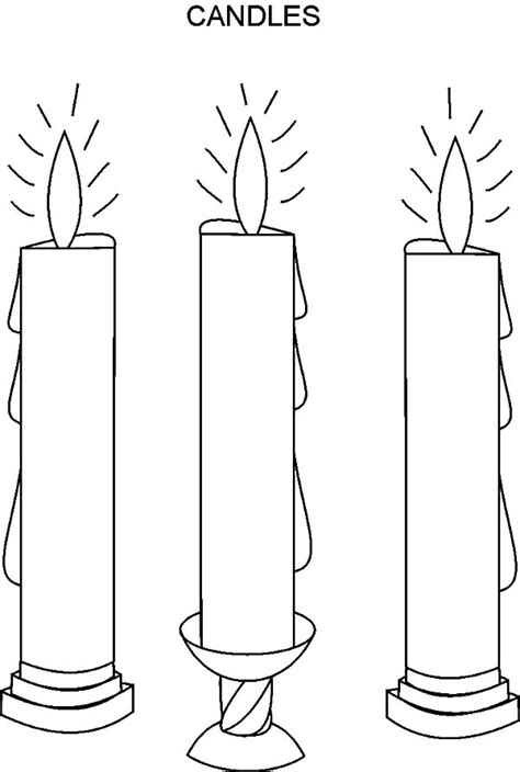 birthday candle coloring page vitlt com