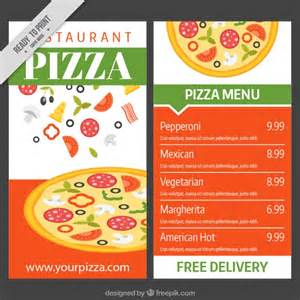 Pizza Menu Design Template by Pizza Menu Template Vector Free